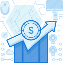chart, finance, graph, increase, investment, money, projection icon