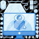 click, computer, eye, monitor, screen, view, views icon