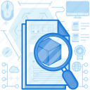document, find, magnifier, market, page, paper, search
