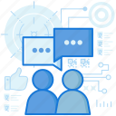 call, chat, communication, conversation, message, messaging, talk icon