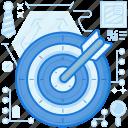 arrow, audience, bow, bullseye, client, marketing, target icon