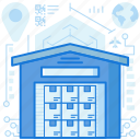 box, building, package, parcel, product, storage, warehouse icon
