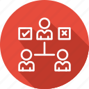 business, delegating, management, product, tasks icon