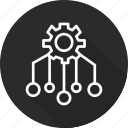 allocation, business, management, product, resource icon