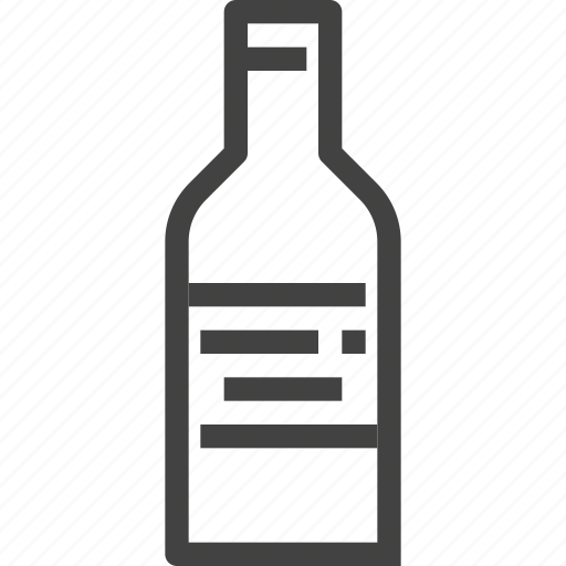 bottle, packaging, product, wine icon