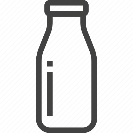 bottle, drink, milk, packaging, product icon