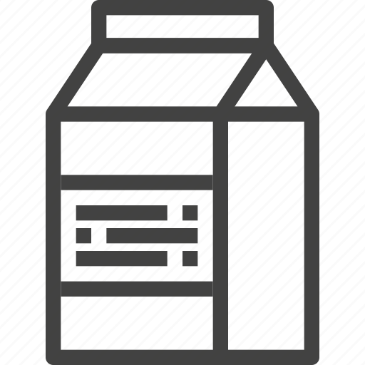 drink, milk, packaging, product icon