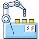 industrial revolution, manufacturing process, production automation, production automation icon icon