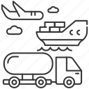 shipping, shipping icon, distribution, freight transportation icon