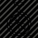 balance, monocycle, vehicle, wheel icon