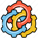automate, automatic, gears icon