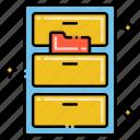cabinet, filing, storage drawers icon