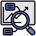 data, analysis, magnifying, glass, analytics, business, and