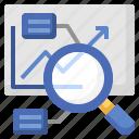 data, analysis, magnifying, glass, analytics, business, finance