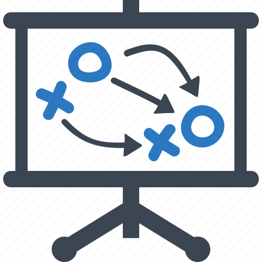 business plan, goals, strategy icon
