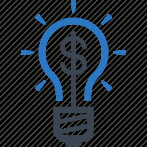 brainstorming, idea, light bulb icon
