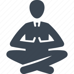 break, lotus position, relaxation, yoga icon