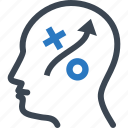 head, strategy, planning icon