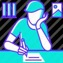 document, homework, pen, study, text, write, writing