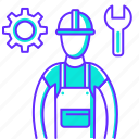 building, construction, man, repair, service, tool, work icon