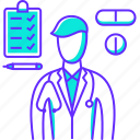 doctor, healthcare, hospital, medical, medicine, profession, treatment icon