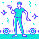 boy, dance, dancer, dancing, man, party, profession icon