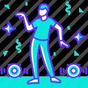 boy, dance, dancer, dancing, man, party, profession icon