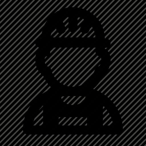 avatar, helmet, profession, profile, worker icon