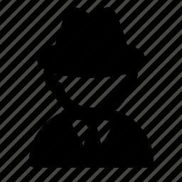 avatar, hacker, job, people, profession, profile, secret agent icon
