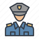 avatar, cop, officer, police icon