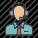 administrator, avatar, customer service, helpdesk icon