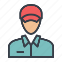 avatar, chauffeur, courier, driver icon