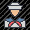 avatar, marine, navy, sailor icon