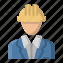 architect, avatar, builder, foreman icon