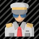 avatar, aviator, captain, pilot icon