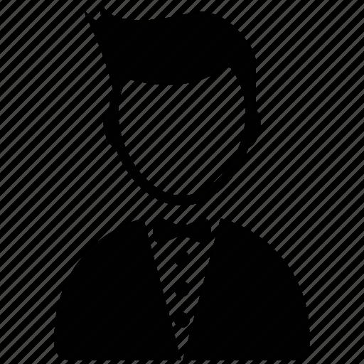 butler, chauffeur, restaurant servant, waiter, waiter serving, young boy icon