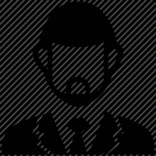 clerk, consultant, government servant, male, man, user icon