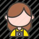 avatar, female, girl, photographer, woman