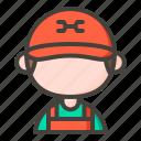 auto service, mechanic, repair, repairman icon