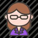 accountant, assistant, female secretary, secretary icon