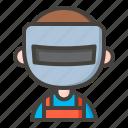 avatar, man, mask, welder, welding