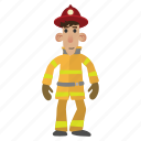 fire, firefighter, helmet, hose, job, male, people
