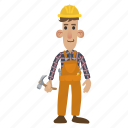 builder, construction, contractor, handyman, tools, work, worker icon