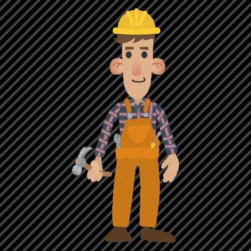 builder, construction, contractor, handyman, tools, work, worker icon