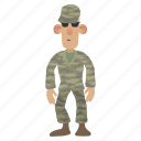 army, helmet, man, military, person, smiling, soldier