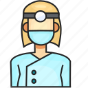 avatar, dentist, female, profession icon
