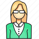 avatar, female, profession, teacher icon
