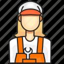 avatar, construction, female, profession