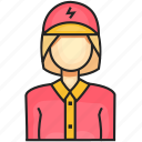 avatar, electrician, female, profession