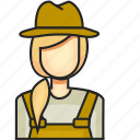 avatar, farmer, female, profession icon